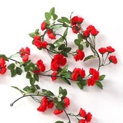 세송이 빨간 장미 조화 넝쿨 / 인테리어조화