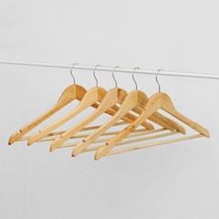 네이처 원목 옷걸이 5p세트/ 매장용 가정용 정장옷걸이