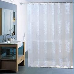 홈카터 꽃무늬 샤워커튼/ 150x180cm PEVA 욕실커튼