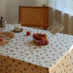 레드 플라워 테이블 커버
