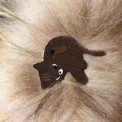 파운드캣 길고양이 뱃지 엉꼬그루밍 호밀