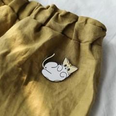 파운드캣 길고양이 뱃지 애교쟁이 피치
