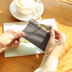 [오팔스톤키링+카드지갑세트]Dear you card wallet(grey)