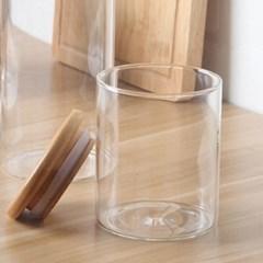 대나무 밀폐 유리보관용기 / 175ml 캔들용기 소품병