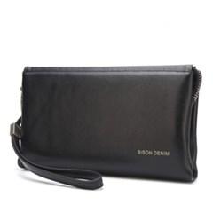 [Bison Denim] 스트랩 심플 클러치백 N2257/파우치백/손가방
