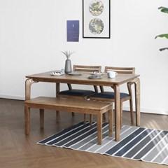[크랜브라운] A형 4인용식탁/테이블 세트_(1464128)