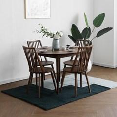 [헤리티지월넛] B형 원형식탁/테이블 세트_(1464116)
