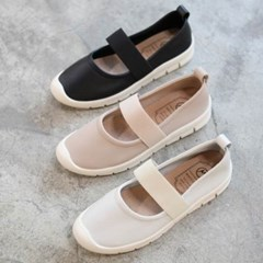 kami et muse Elastic band top leather sneakers_KM19w318