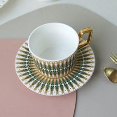 노르딕 골드 커피잔