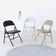 등받이 쿠션 접이식 간이 간편 의자_(2243202)
