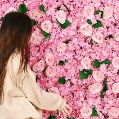 플라워월 조화 꽃벽 / 인테리어 조화벽장식