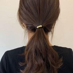 [2 color] 심플 메탈 헤어 고무줄 머리끈