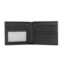 [Bison Denim] 심플 로고 반지갑 N4501/슬림지갑/소가죽지갑