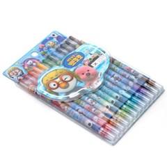 12색 뽀로로 샤프식 색연필/미술학원판촉용 어린이