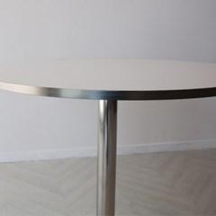 로이퍼니처랩 라미네이트 크롬 원형 화이트 테이블_(2500865)