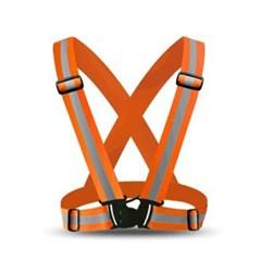 버클 야광 반사 안전조끼띠(오렌지)/ 형광 안전벨트