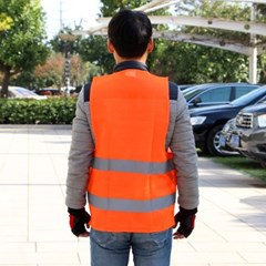 주황색 형광 안전작업복/사고예방 안전조끼 안전복