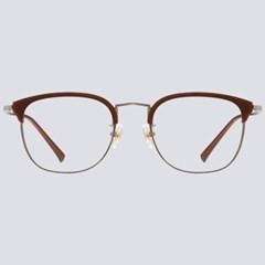 HANK brown 안경테 둥근 돋보기 세련된 난시 나무_(1935676)
