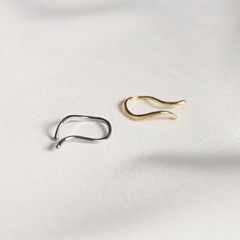 wave simple earcuff (2colors)
