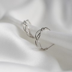 layered wave ring earrings (2colors)