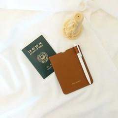 [IDEALMOMENT] 여권지갑_카멜