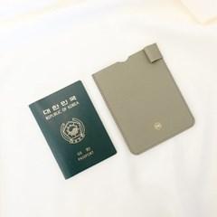 [IDEALMOMENT] 여권지갑_올리브그레이엠보