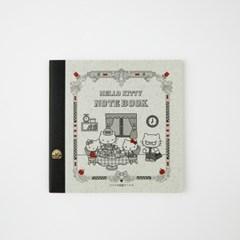 [TSUBAME] 제비 노트 X 헬로키티_사각 (무지,30매)