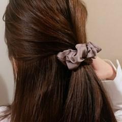 [2개세트][4color] 데일리 베이직 스크런치 곱창 머리끈