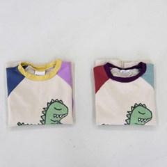 열) 팔배색 공롱 아동 티셔츠
