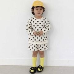 에)밀크 도트 아동 반바지 상하세트