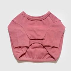 베이직 크롭 티셔츠 핑크