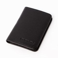 로어맨 블랙 소가죽 카드지갑/지갑선물 남자반지갑