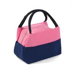 투컬러 캔버스 손가방 / 토트백 도시락가방 보조가방