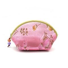 실크 자수 부채꼴 지갑(소) / 자수 동전지갑
