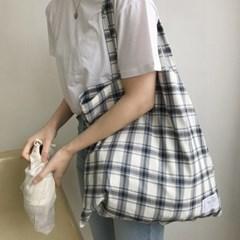 slowstitch big bag ( grey check )