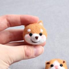 DIY 양모펠트 패키지 강아지 마그넷 만들기 시바견