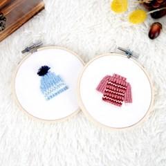 프랑스자수 DIY세트 겨울시리즈 따뜻한소품