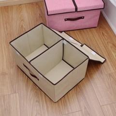 40L 면마 파스텔 리빙박스/옷정리 이불정리 수납박스