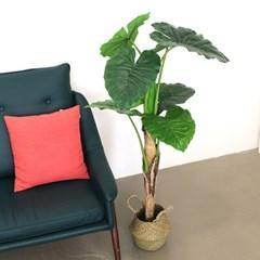 인조나무 화분 인테리어나무 조화 소품 클래식 알로카시아 120cm
