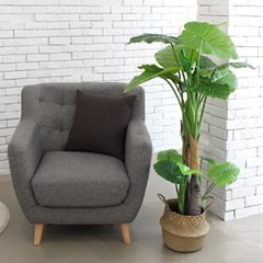 인조나무 화분 인테리어나무 조화 소품 2단 알로카시아 120cm
