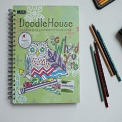 컬러링북-doodle house