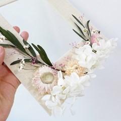 꽃 담은 프리저브드 플라워 청첩장&사진 8R 액자(가로/세로)