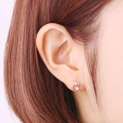 OST 애플 하트 로즈골드 귀걸이 OTS117903QPW