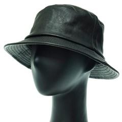 [플릭앤플록]IJU03.인조가죽 벙거지 버킷햇 힙합 모자