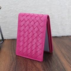 엘리파 양가죽 카드지갑(진핑크) / 양가죽 명함지갑