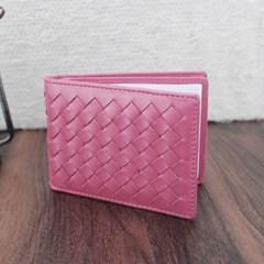 엘리파 양가죽 카드지갑(핑크) / 양가죽 명함지갑