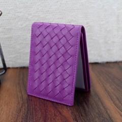 엘리파 양가죽 카드지갑(퍼플) / 양가죽 명함지갑