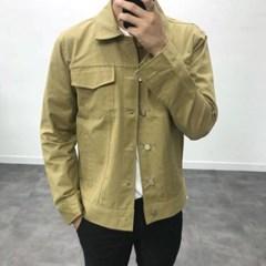봄 남자 트러커 포켓 트러크 면 봄버 블루종 자켓