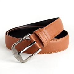 브라운 실버버클 정장벨트(110cm)/남성용 허리띠
