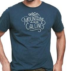 [유나이티드바이블루] 마운틴 콜링 반팔 티셔츠 남성용 네이비